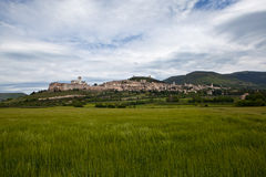 Panorama Gubbio. Italy. Royalty Free Stock Photos