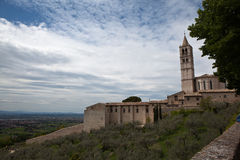 Panorama Gubbio. Italy. Royalty Free Stock Image