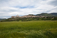 Panorama Gubbio. Italy. Stock Images