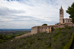 Panorama Gubbio. Italy. Royalty Free Stock Images