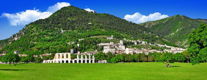 Panorama of Gubbio Stock Images