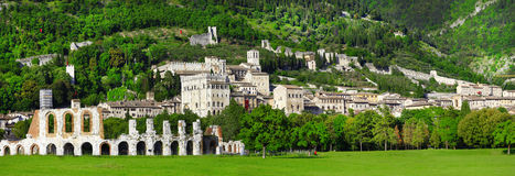Panorama of Gubbio Royalty Free Stock Photos