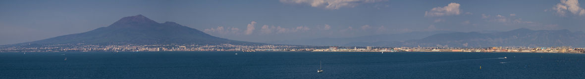 Panorama of the Gulf of Naples Royalty Free Stock Photos