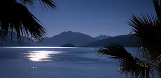 Panorama of gulf sunrise royalty free stock photo