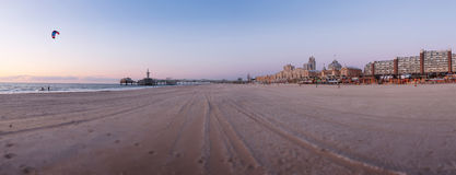 Panorama of the Hague beach coast Royalty Free Stock Photography