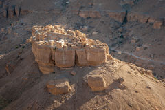 Panorama of Haid Al-Jazil in Wadi Doan - Hadramaut - Yemen Stock Photo