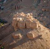 Panorama of Haid Al-Jazil in Wadi Doan - Hadramaut - Yemen Stock Images