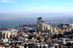 Panorama of Haifa city Royalty Free Stock Photo