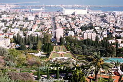 Panorama of Haifa city Royalty Free Stock Photo