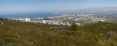 Panorama Haifa golf Israel Stock Photo