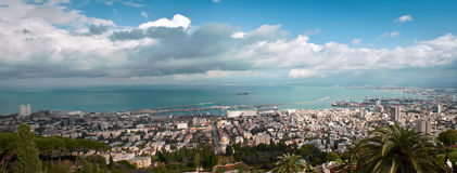 Panorama of Haifa Israel . Royalty Free Stock Images