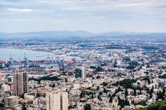 Panorama of Haifa, Israel Royalty Free Stock Images