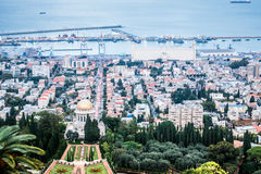 Panorama of Haifa, Israel Stock Images