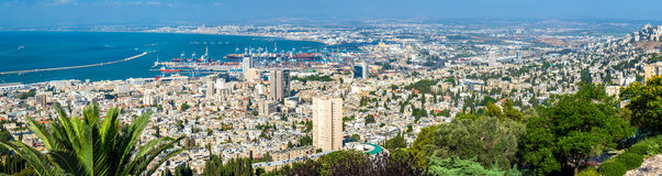 Panorama of Haifa from Mount Carmel Royalty Free Stock Photography