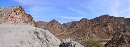 Panorama Hajjar mountain. emirate fujairah Royalty Free Stock Photos
