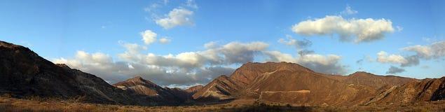Panorama Hajjar mountain. emirate fujairah Royalty Free Stock Image