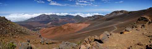 Panorama of Haleakala National Park Royalty Free Stock Image