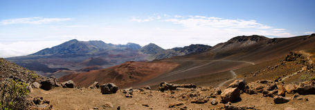 Panorama of Haleakala National Park Royalty Free Stock Photography
