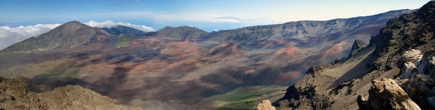 Panorama of Haleakala National Park Stock Images