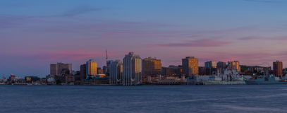 Panorama Halifax nowa Scotia przy zmierzchem Obraz Royalty Free