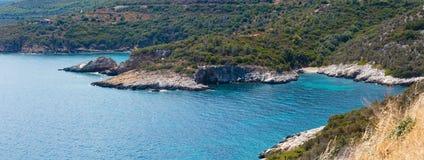 Panorama Halkidiki, Grecia della costa di mare di estate Immagini Stock Libere da Diritti