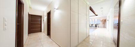 Panorama of hallway Stock Photos