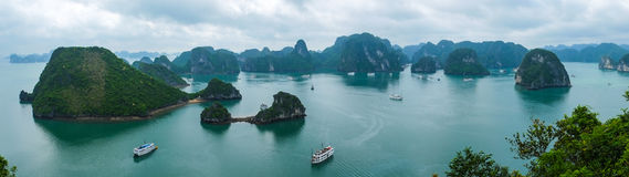 Panorama of Halong Bay, Vietnam Stock Photo