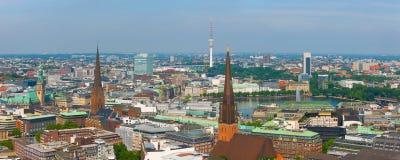 Panorama of Hamburg Stock Image