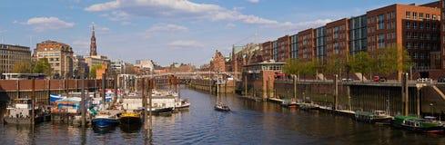 Panorama Hamburgo Speicherstadt fotos de archivo libres de regalías