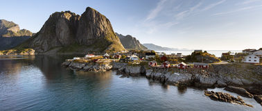Panorama Hamnoy island, Lofoten, Norway Royalty Free Stock Image