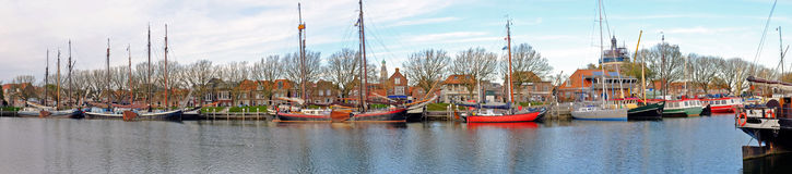Panorama from the harbor in Enkhuizen Netherlands Royalty Free Stock Images