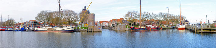 Panorama from the harbor from Enkhuizen  the Netherlands Stock Photo