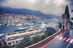 Panorama of harbor  La Condamine, MONACO Stock Photography