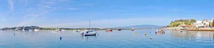 Panorama from the harbor and village Alvor Portugal Royalty Free Stock Photos