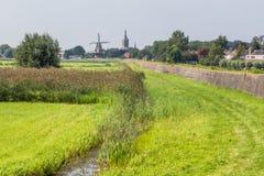 Panorama Hasselt Zwartewaterland Holland Royalty Free Stock Images