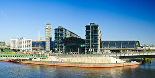 Panorama with hauptbahnhof in berlin Royalty Free Stock Photo