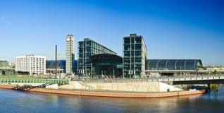 Panorama with hauptbahnhof in berlin. Beautiful panorama with hauptbahnhof (main railway station) in berlin, germany Royalty Free Stock Photo