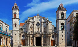 Panorama of Havana Cathedral Square Stock Image