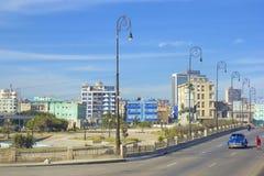 Panorama in Havana, Cuba, Caribbean. Malecon and panorama of Havana, Cuba Royalty Free Stock Image