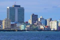Panorama in Havana, Cuba, Caribbean. Malecon and panorama of Havana, Cuba Stock Images