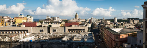 Panorama of Havana Cuba Stock Images