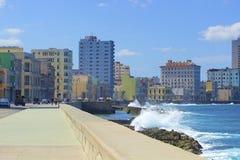 Panorama in Havana, Kuba, karibisch lizenzfreies stockfoto