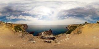 panorama- havssikt Arkivfoton