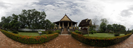 Panorama of Haw Phra Kaew Royalty Free Stock Photo