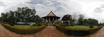 Panorama of Haw Phra Kaew Royalty Free Stock Photo