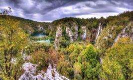 Panorama HDR di Plitvice Fotografia Stock