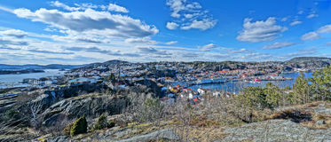 Panorama HDR of the Kragero city and fjord, Norway Stock Photo