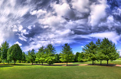 Panorama HDRI van een park Royalty-vrije Stock Afbeeldingen