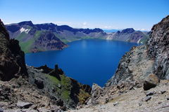 Panorama of heavenly lake Royalty Free Stock Photography