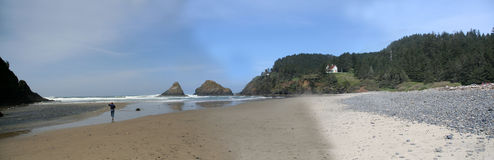 Panorama: Heceta beach Stock Image